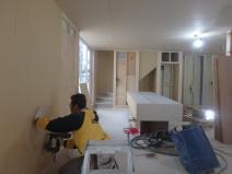 家展公開予定の鈴木さん自邸施工中。