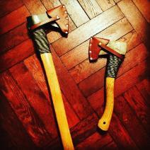 立花 上海と斧カバー作り