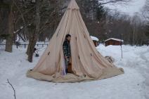 立花 初めての冬キャンプ