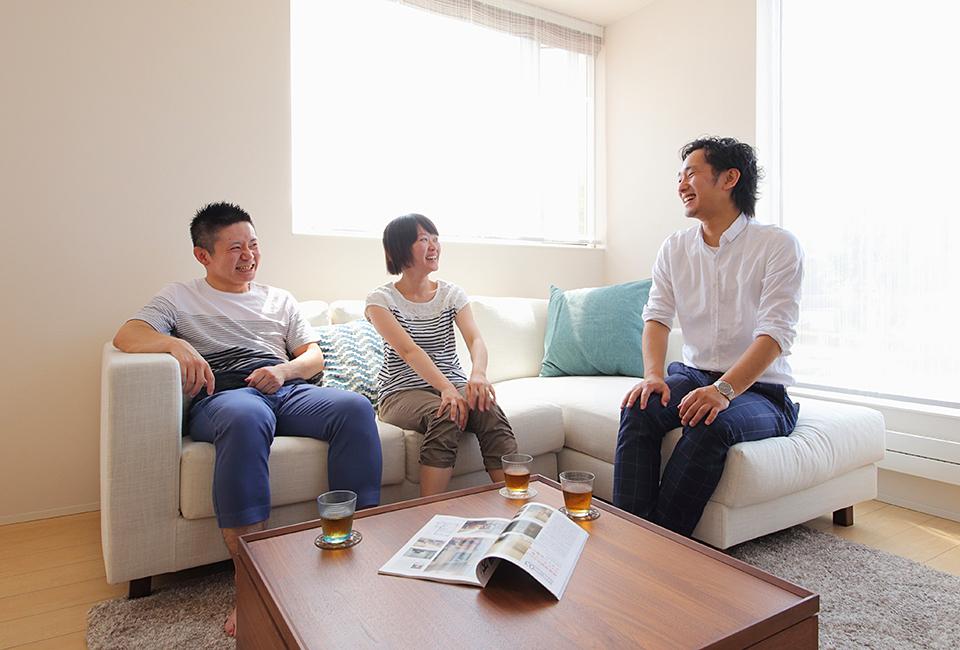 札幌の新築戸建てで幸せな3人暮らし