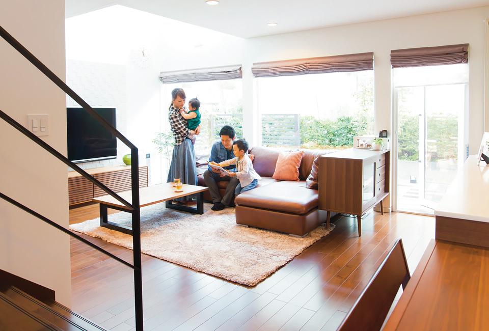 札幌の新築一戸建てで家族の楽しい暮らし