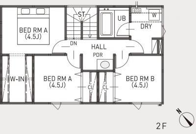 西区西野6条の家展 2F